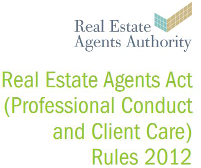 real estate agents act professional conduct and client care rules 2012 book cover